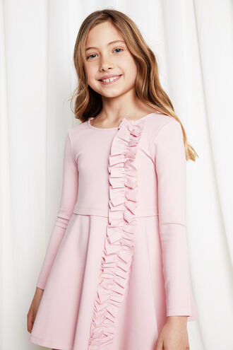 DASHA RUFFLE DRESS in colour PEACHSKIN