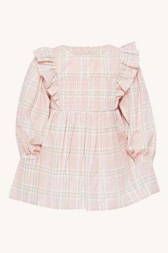 LENI CHECK MINI DRESS in colour PEARL