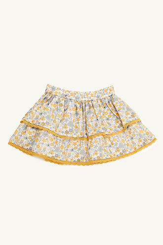 FLORAL RAH RAH SK in colour PASTEL YELLOW