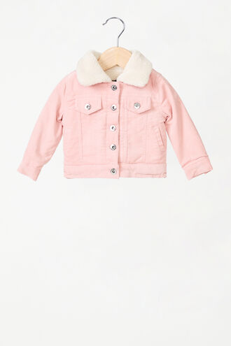 ESTELLE CORD SHEARLING  JACKET in colour SEASHELL PINK