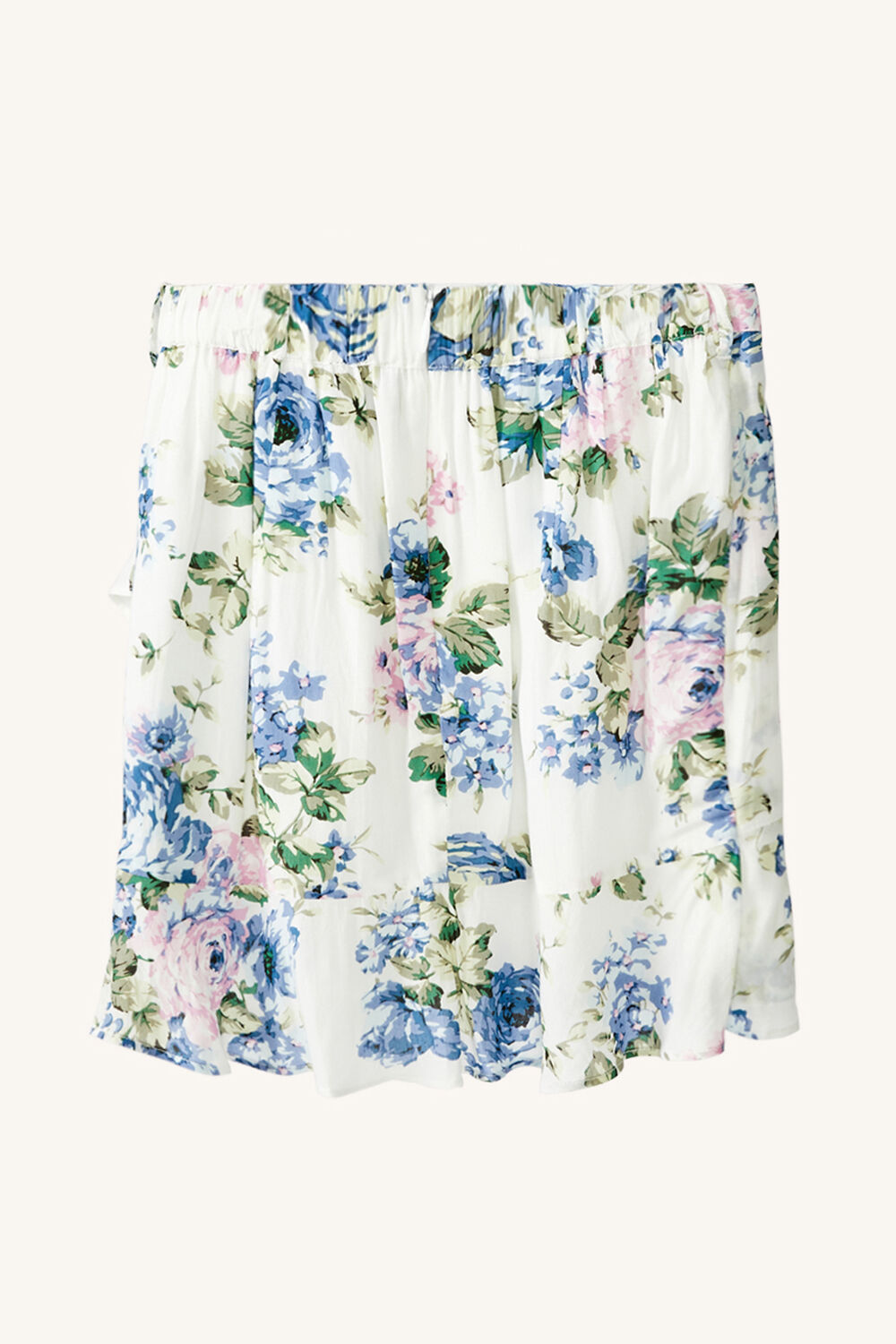 JUNIOR GIRL SAMMIE FLORAL SKIRT in colour CLEMATIS BLUE