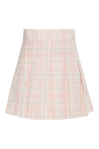 CHECK PLEAT SKIRT in colour PEARL