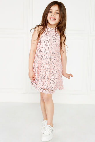 GEMMA SEQUIN DRESS in colour POTPOURRI
