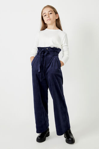 FRANKIE CORD PANTS in colour BLACK IRIS