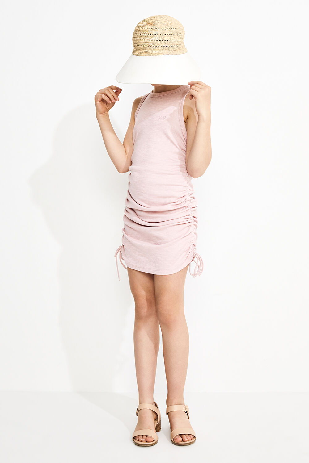 JUNIOR GIRL MARI TANK DRESS in colour DESERT SAND