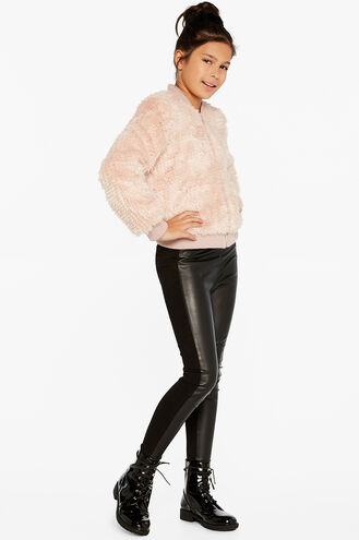 EVE FURRY BOMBER in colour CRYSTAL PINK