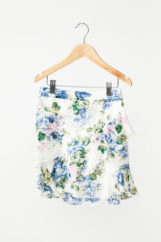 SAMMIE FLORAL SKIRT in colour CLEMATIS BLUE