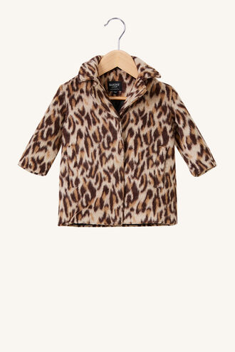 THE LEOPARD COAT in colour LATTE