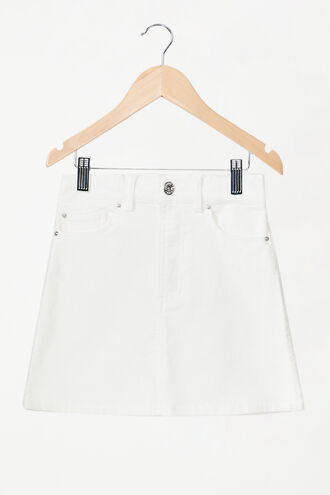 ESTELLE CORD MINI SKIRT in colour CLOUD DANCER