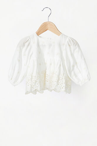 ARIANNA BRODERIE TOP in colour CLOUD DANCER