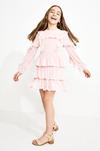 TAYLOR TIER DRESS in colour PRIMROSE PINK