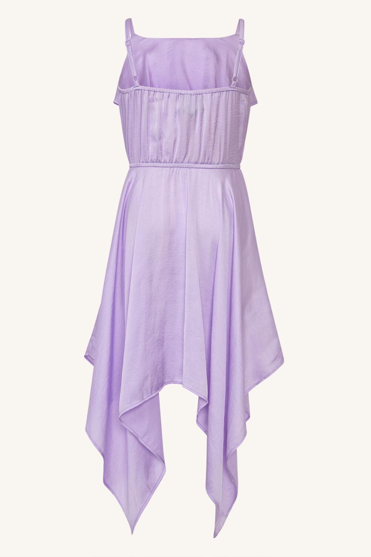 GIRLS ADDY HANKY DRESS in colour LILAC CHIFFON