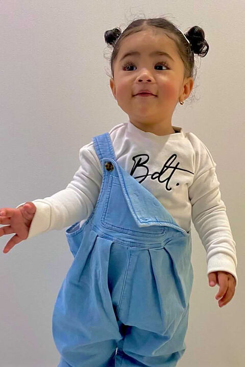 BABY GIRL CHARLIE OVERALL  in colour MIDNIGHT NAVY