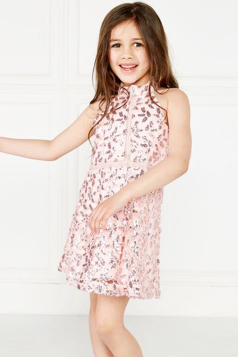 JUNIOR GIRL GEMMA HALTER DRESS in colour POTPOURRI