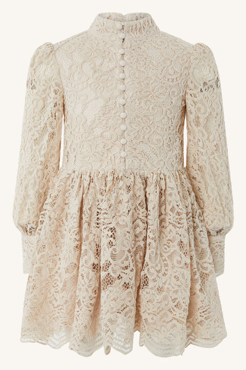 GIRLS PENELOPE MINI LACE DRESS in colour RAINY DAY