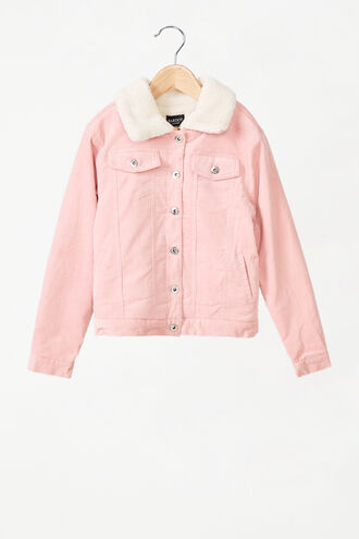 CORD SHEARLING  JACKET in colour SEASHELL PINK