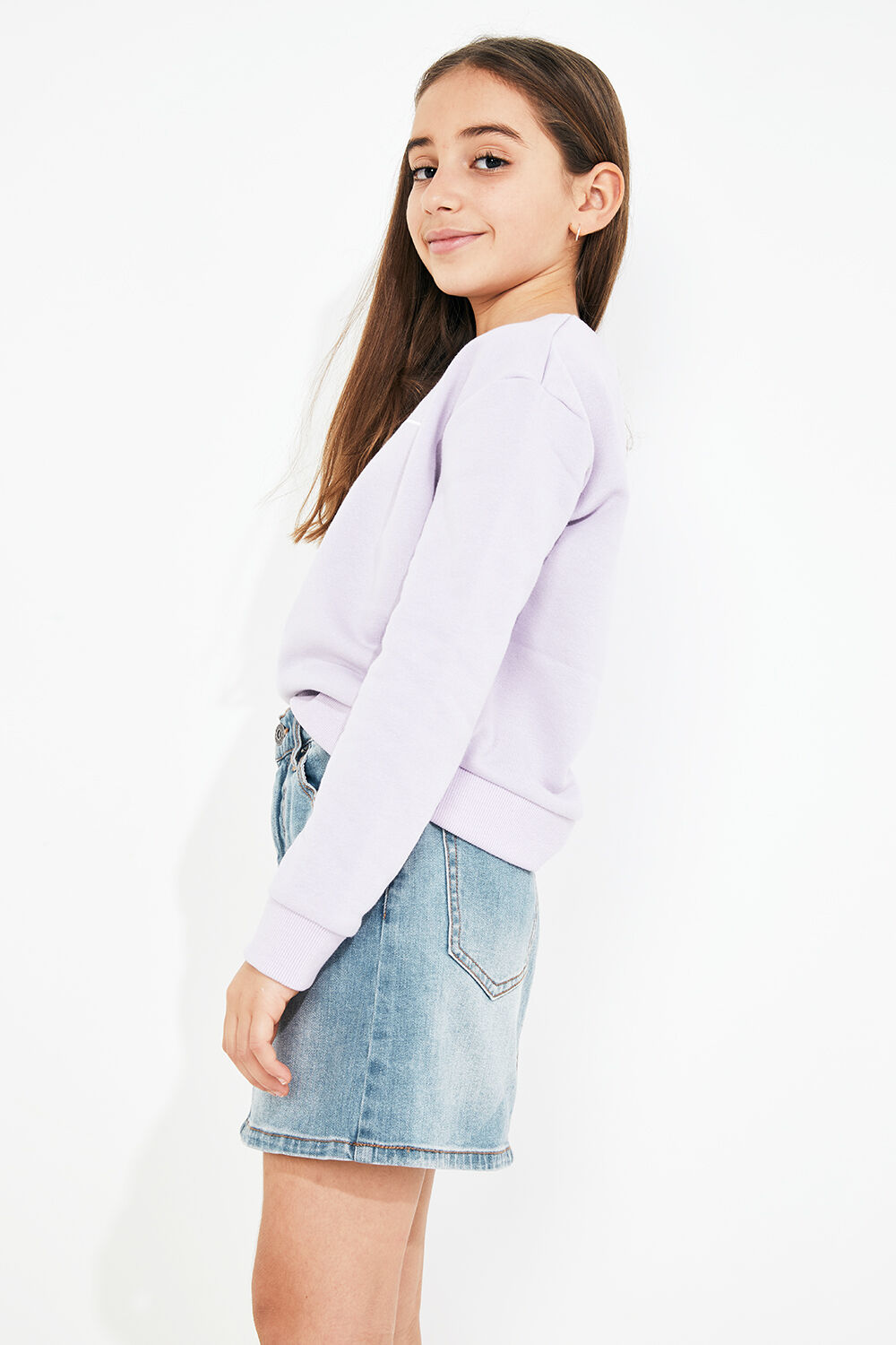 TWEEN GIRL BDT SWEATER in colour GRAY LILAC