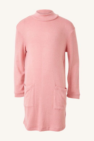GEORGIE JERSEY KNIT DRESS in colour STRAWBERRY CREAM