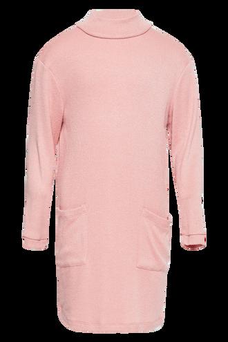 GEORGIE JERSEY KNIT DRESS in colour STRAWBERRY CREAM