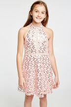 TWEEN GIRL GEMMA HALTER DRESS in colour POTPOURRI