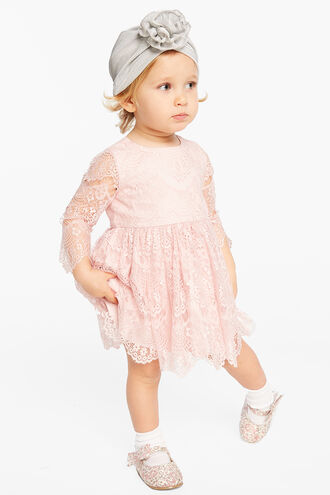 GERTRUDE LACE DRESS in colour TUSCANY