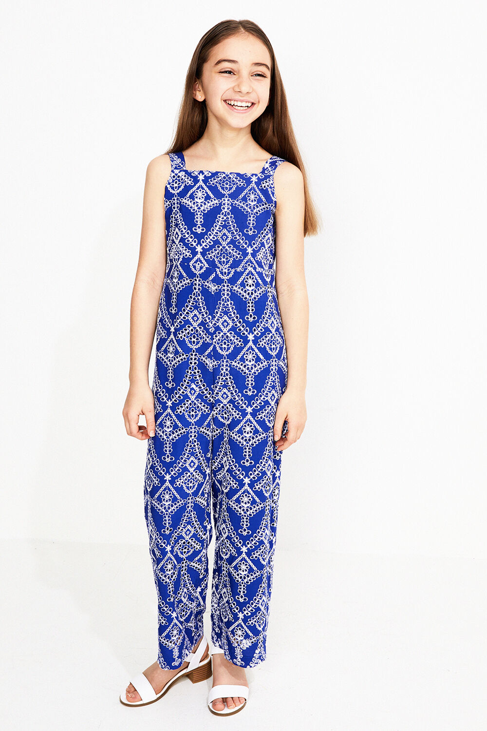 JUNIOR GIRL CULLOTE JUMPSUIT in colour BALLAD BLUE