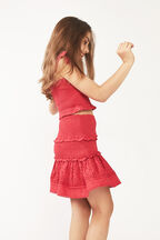 JUNIOR GIRL LOLITA SHIRRED SKIRT in colour FIESTA