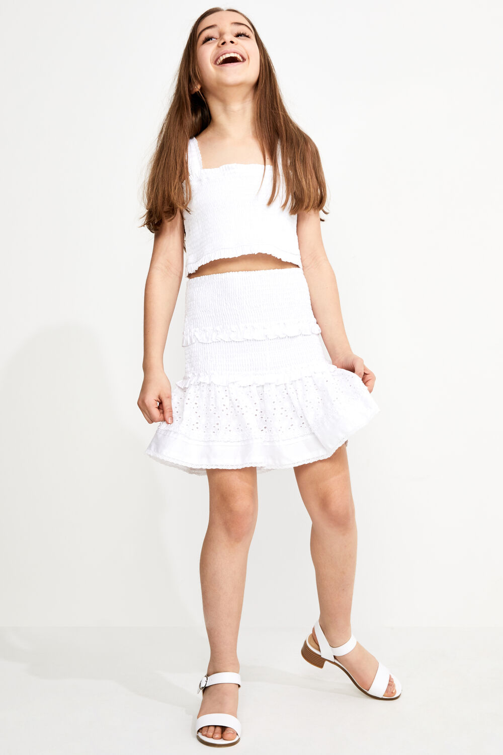 TWEEN GIRL NIA TOP in colour BRIGHT WHITE