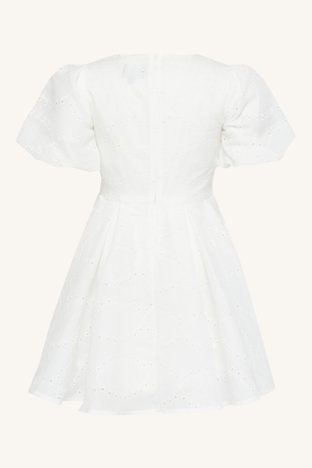 GIRLS RUE EMBROIDERED DRESS in colour CLOUD DANCER