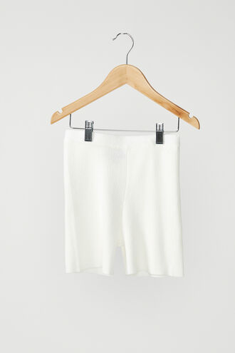 THE KNITTED SHORT in colour BRIGHT WHITE