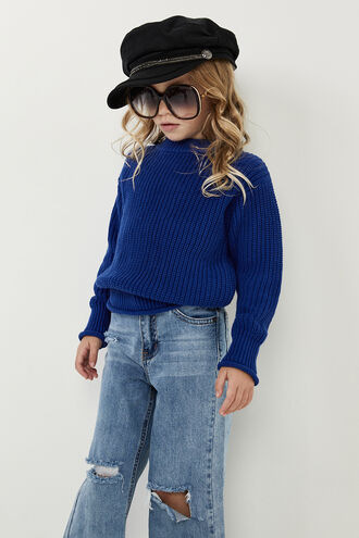 HOLLY KNIT JUMPER in colour BRIGHT COBALT