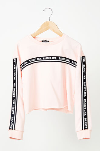 CROPPED SWEAT TOP in colour PETAL PINK