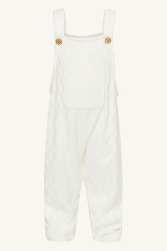 SIENNA KNIT OVERALLS in colour CLOUD DANCER
