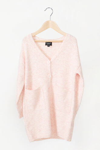 STELLA KNIT CARDIGAN in colour SHELL PINK