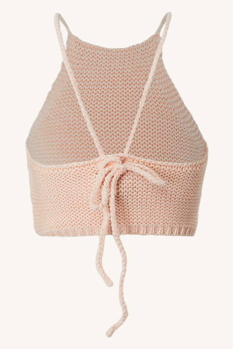 GIRLS ANDI KNIT TOP in colour SEASHELL PINK