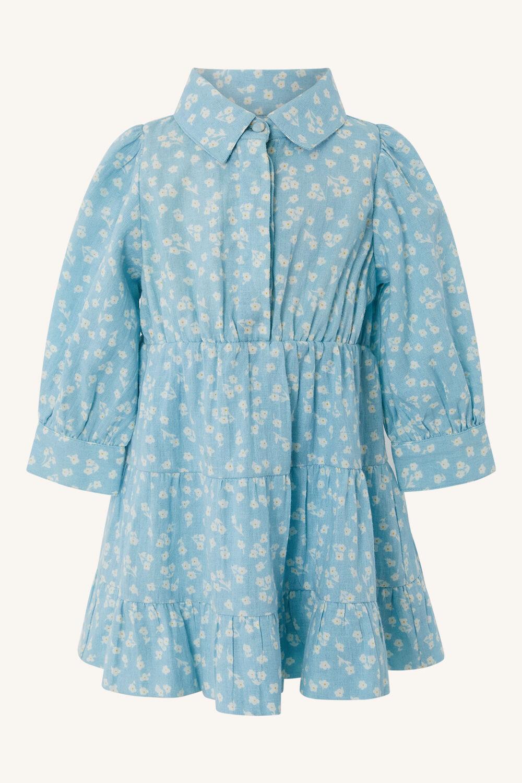 BABY GIRL DITSY MINI SHIRT DRESS in colour STAR WHITE