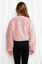 TWEEN GIRL TEDDY BOMBER in colour MAUVEGLOW