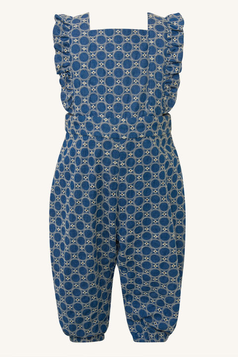 BABY GIRL ESTELLE CHAMBRAY OVERALL in colour CHAMBRAY BLUE