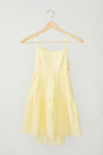 AMELIE TIERED DRESS in colour TENDER YELLOW
