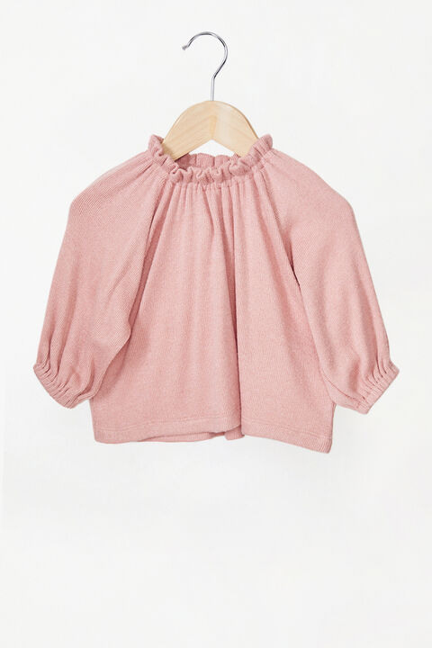 GEORGIE JERSEY KNIT TOP in colour STRAWBERRY CREAM