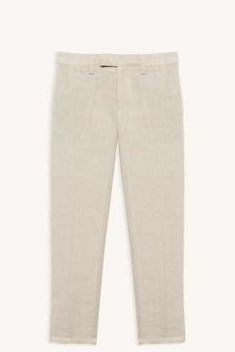 MILES LINEN PANT in colour SANDSHELL