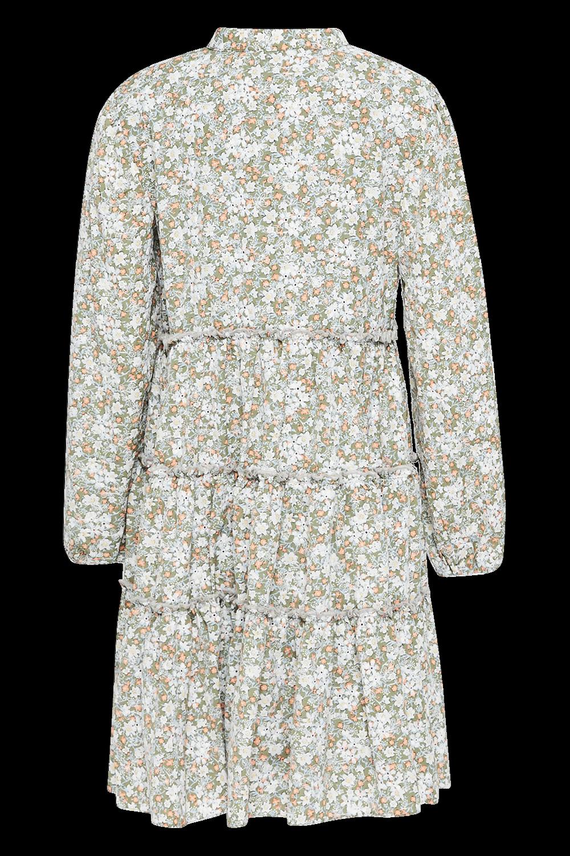GIRLS SERENITY FLORAL DRESS in colour BURNT OLIVE