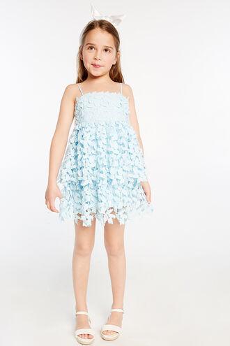 DARCY LEAF DRESS in colour CRYSTAL BLUE