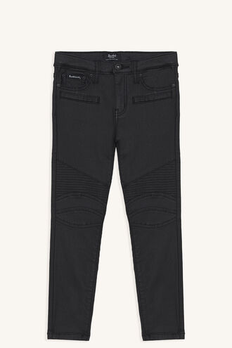 OLI COATED JEAN in colour CAVIAR