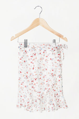 DITSY WRAP SKIRT in colour BRIGHT WHITE