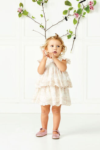ELOISE LACE DRESS in colour PALE DOGWOOD