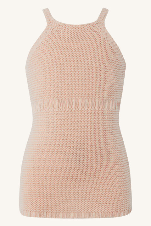 BABY GIRL ANDI KNIT DRESS in colour SEASHELL PINK