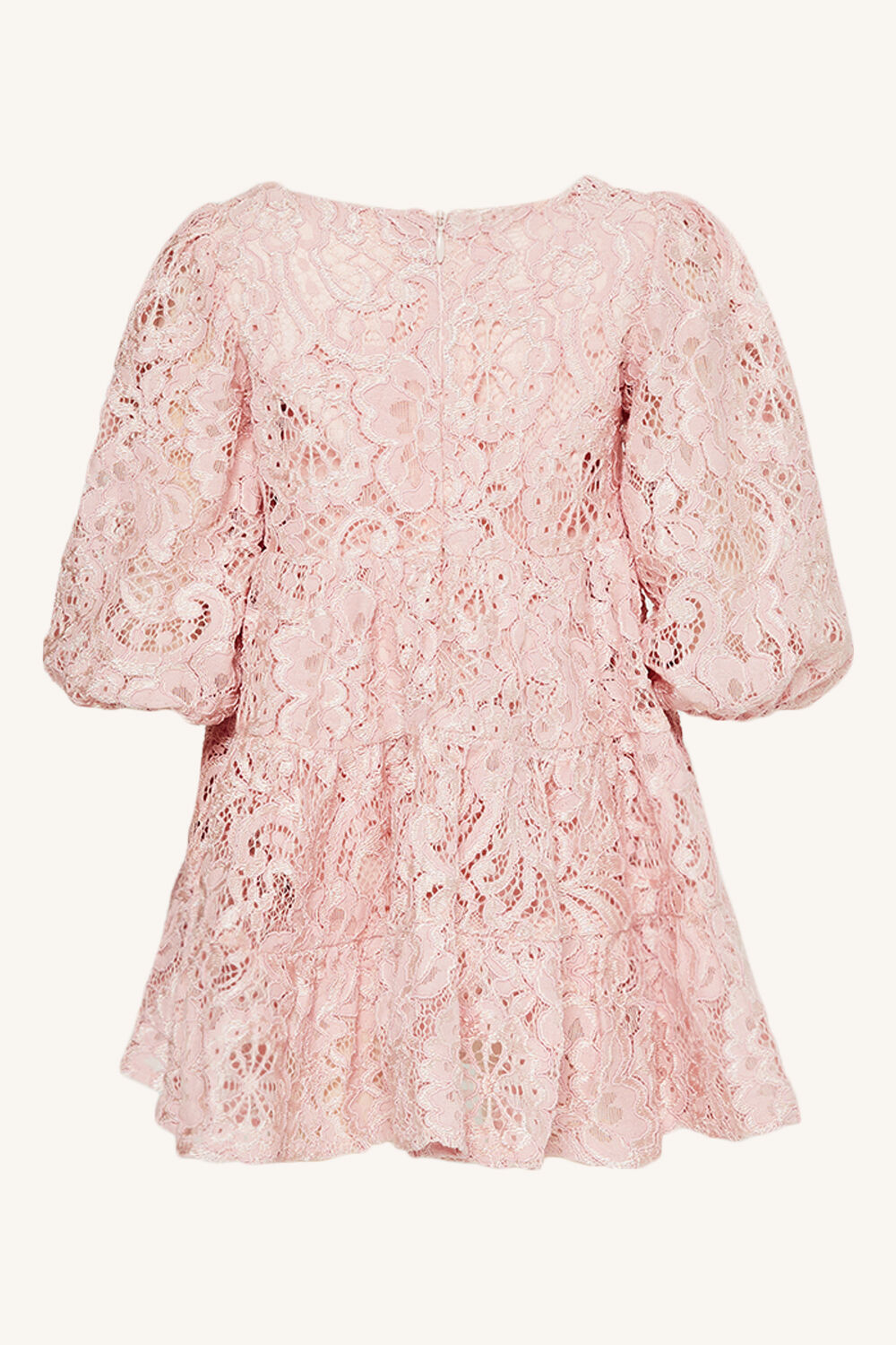 BABY GIRL ELLA LACE DRESS in colour SOFT PINK