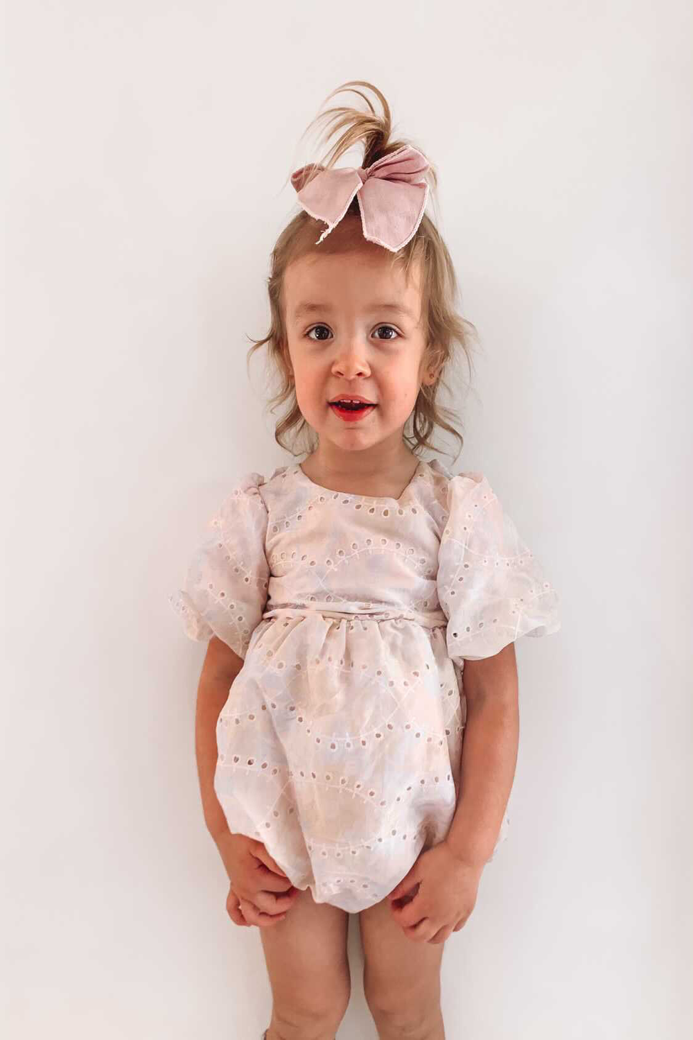 BABY GIRL SOFT FLORAL GROW in colour WHISPER PINK
