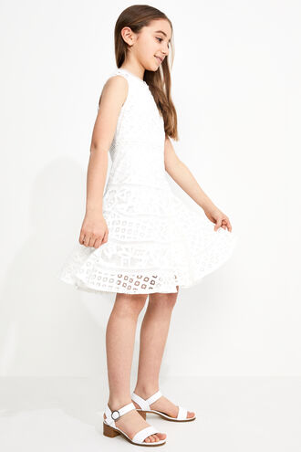 ELISE LACE DRESS in colour CLOUD DANCER